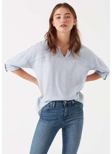 Mavi Kadın   Bluz 121357-28313 Mavi